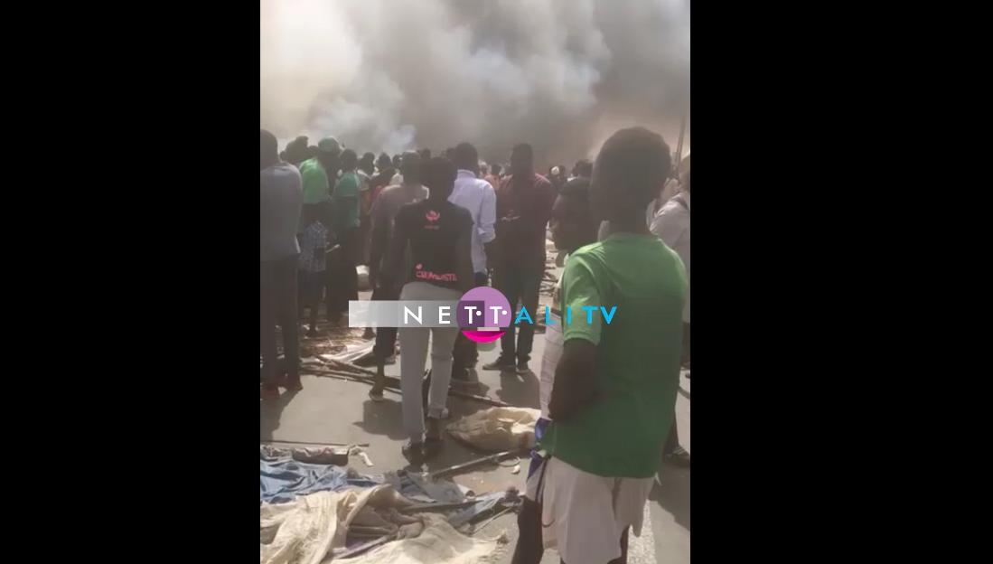 Violent incendie au marché de Ross Béthio : Des dégâts estimés à plusieurs centaines de millions