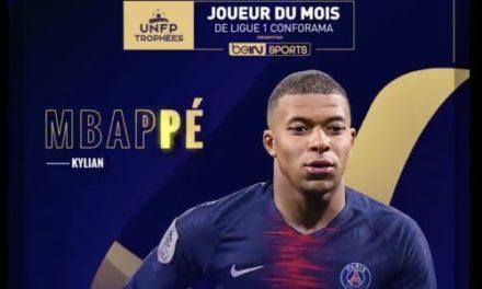 Mbappé meilleur joueur en février