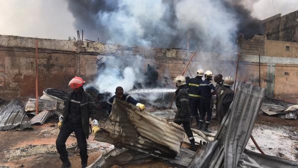 Kaffrine: Un incendie ravage une vingtaine de maisons