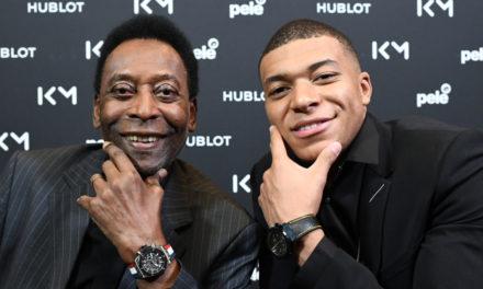 Mbappé a rencontré le Roi Pelé