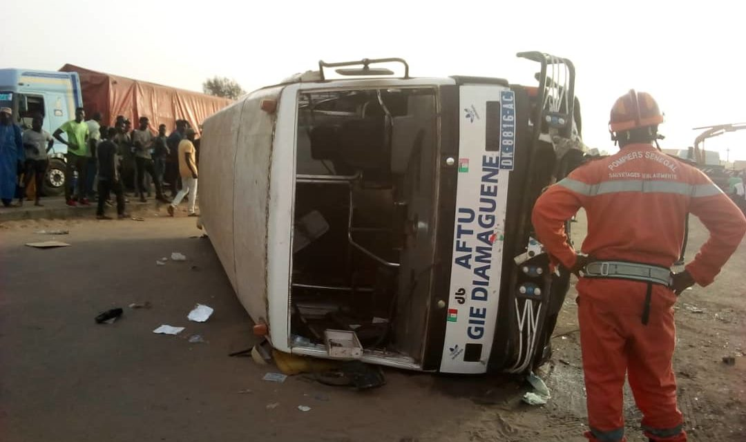 Accident à Sicap-Mbao : 26 blessés, dont 6 graves