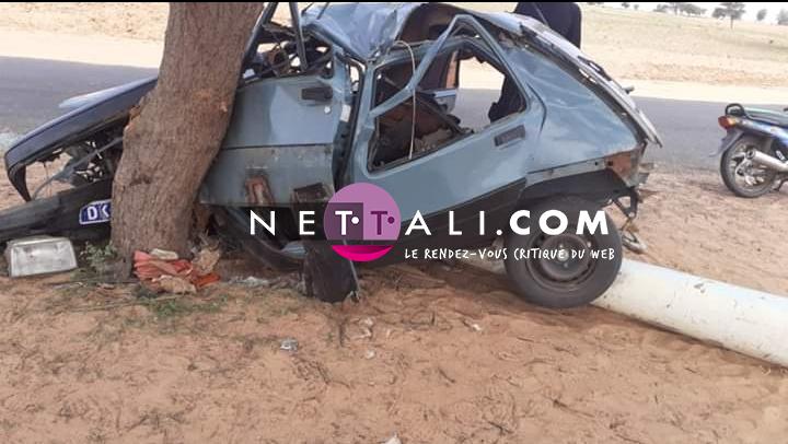 LOUGA : Voici les images de l'accident qui a fait 5 morts