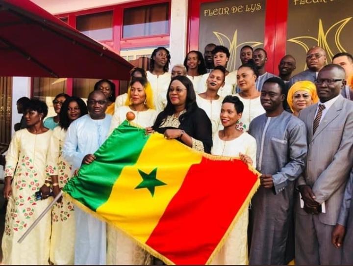 AFROBASKET FEMININ 2019 : Les Lionnes ont reçu le drapeau national