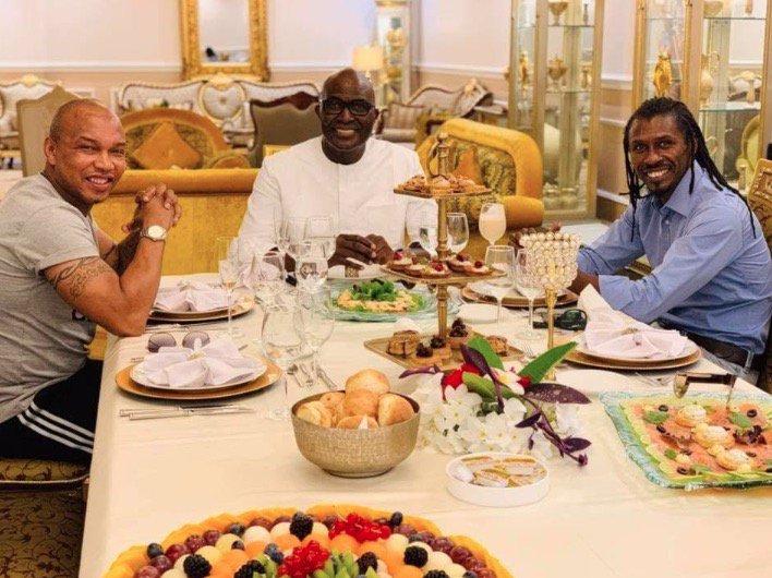 IMAGES : El Hadji Diouf et Aliou Cissé se retrouvent