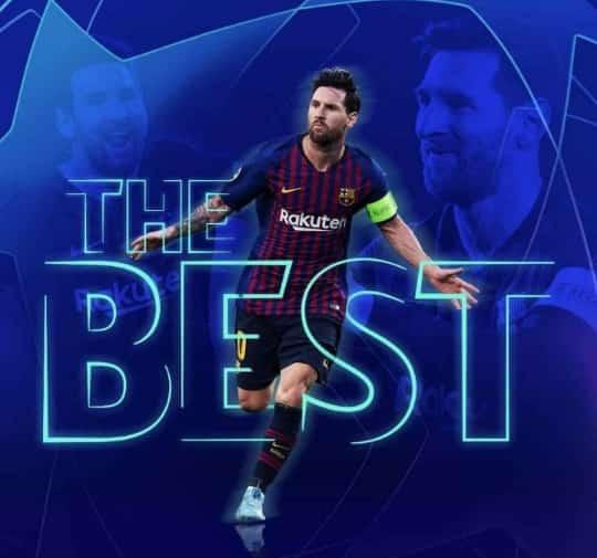 FIFA THE BEST : Messi sacré pour la 1ère fois