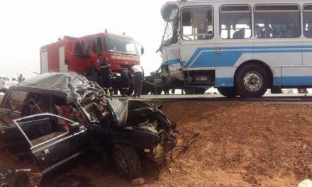 Guéoul: Un bus prend feu, un passager meurt calciné