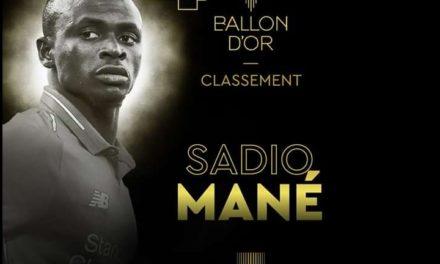 4e AU BALLON D'OR – Sadio Mané réagit