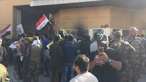IRAK – L'ambassade des USA assiégée par des manifestants