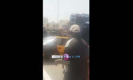 Vidéo – Accident aux Allées du Centenaire, un véhicule du GIGN se renverse sur un taxi