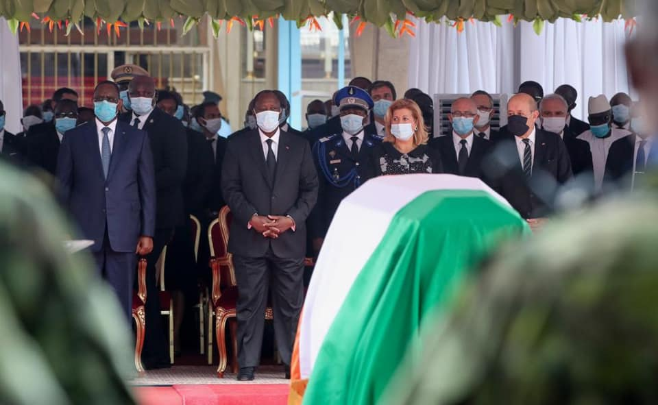 COTE D'IVOIRE – Macky Sall à la cérémonie d'hommages à Gon Coulibaly