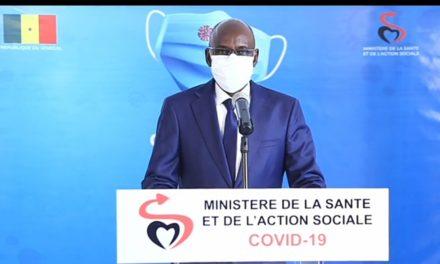 CORONAVIRUS AU SÉNÉGAL – 3 nouveaux décès, 112 nouveaux cas dont 28 communautaires
