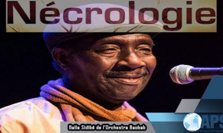 """Décès de Balla Sidibé, """"pilier"""" et membre fondateur de l'Orchestra Baobab"""