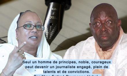 HOMMAGE – Mme Habré pleure Babacar Touré