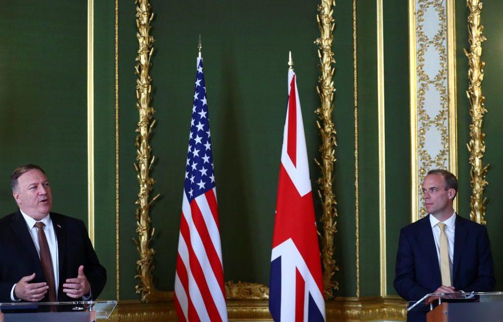 LONDRES – Pompeo appelle à bâtir une coalition anti-chinoise
