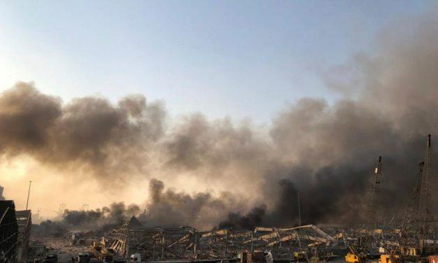 LIBAN – Forte explosion dans la zone portuaire de Beyrouth