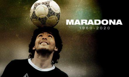 Le monde du foot pleure son Diego