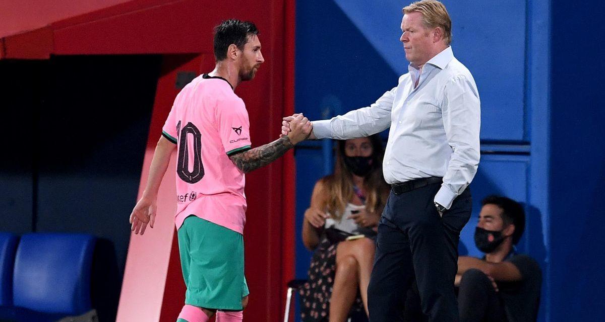 BARÇA – Koeman flatté pour Messi…