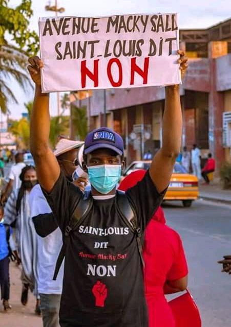 AVENUE MACKY SALL  – Saint-Louis dit non à Mansour Faye