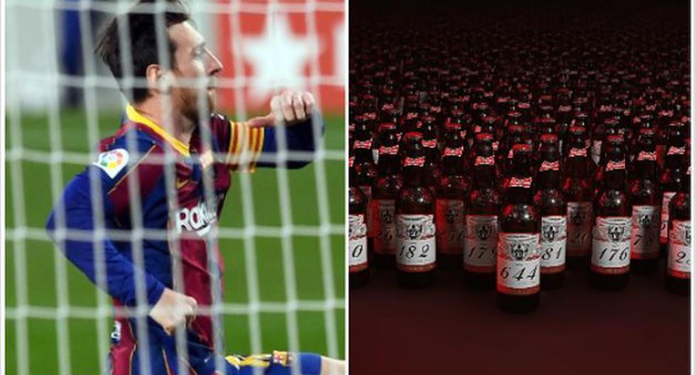 MESSI – Budweiser a distribué 644 bouteilles de bière aux gardiens de but contre lesquels l'Argentin a marqué
