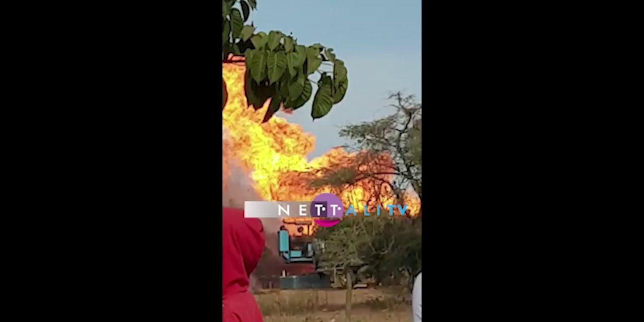 VIDEO – NOTTO GOUYE DIAMA – Un puits de gaz de l'usine Forteza a pris feu