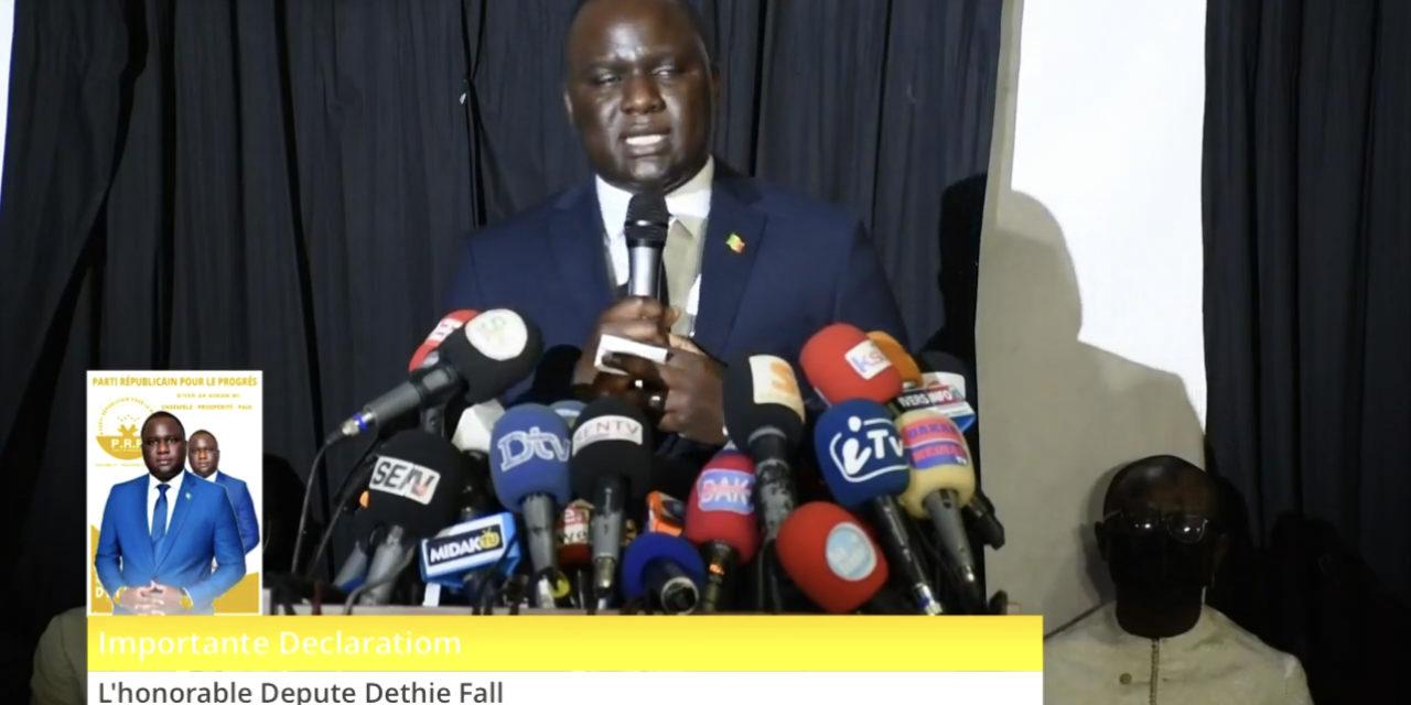 ASSEMBLEE NATIONALE  – Pourquoi Déthié Fall va garder son poste de député