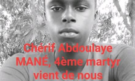MORT D'UN AUTRE MANIFESTANT A BIGNONA- Le jeune Chérif Mané inhumé cet après-midi
