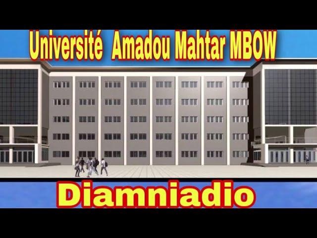 INFRASTRUCTURES UNIVERSITAIRES – La moitié des travaux de l'Université Amadou Makhtar Mbow livrée en octobre 2021