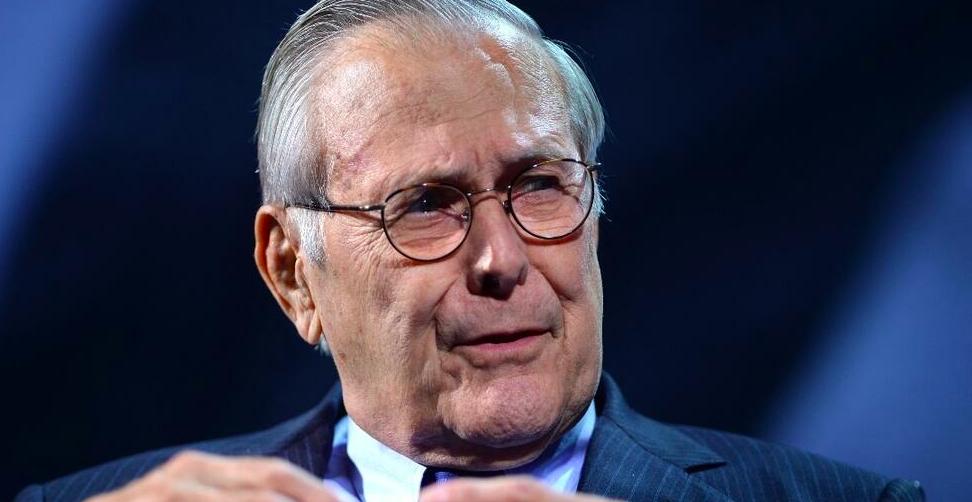Décès de Donald Rumsfeld, secrétaire à la Défense du président George W. Bush