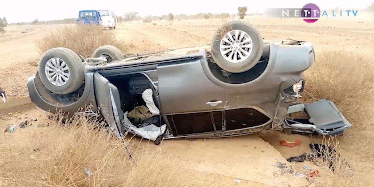 VIDEO – TOURNEES ECONOMIQUES DU PRESIDENT – Bara Doly de l'APR et Mbaye Peeh, victimes d'un accident de la route