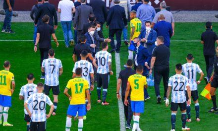 AMSUD – Le clasico Brésil-Argentine stoppé pour violation des protocoles sanitaires
